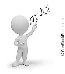 kicsi, énekes, 3, -, emberek