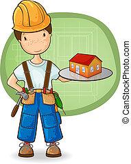 kicsi épület, építő, birtok
