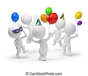 kicsi, ünnep, -, 3, emberek