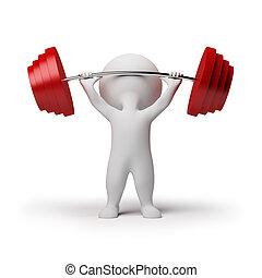 kicsi, -, 3, weightlifting, emberek