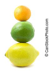 kicsi, citrom, mandarin, kazal, lime