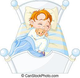 kicsi fiú, alvás