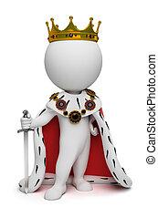 kicsi, király, 3, -, emberek