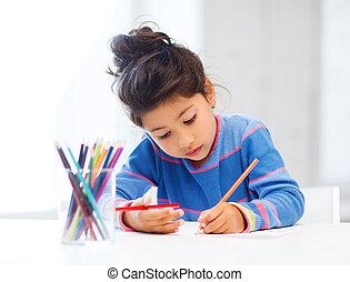 kicsi lány, rajz