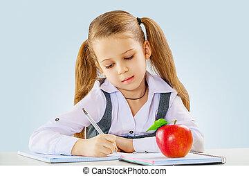 kicsi lány, tanulás
