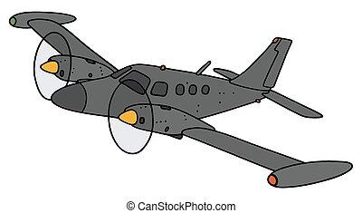 kicsi, repülőgép, karóra