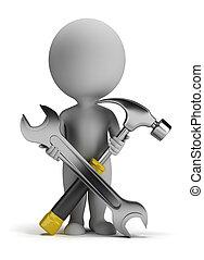 kicsi, repairer, 3, -, emberek