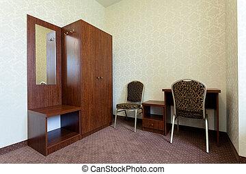 kicsi, szálloda szoba, klasszikus
