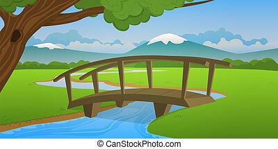 kicsi, wooden bridzs