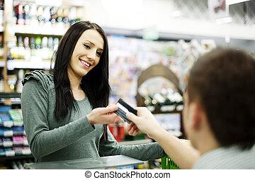 kiegyenlít, hitelkártya, támasz