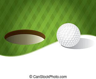 kifejez zöld, labda, golf, háttér