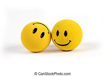 kifogásol, -, sárga, smiley arc