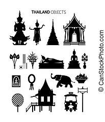 kifogásol, thaiföld, állhatatos, árnykép, kultúra