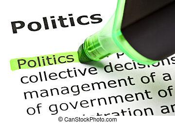 kijelölt, 'politics', zöld