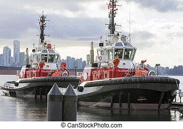 kikötő, csónakázik, húzás, vancouver, időszámításunk előtt