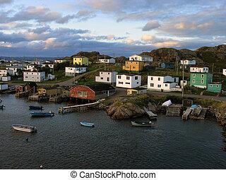 kikötő, falu