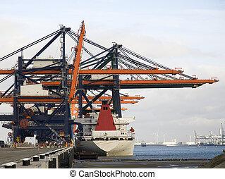 kikötő, konténer