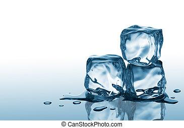 kikövez, három, jég