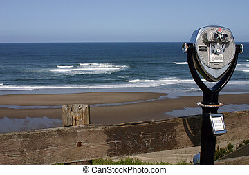 kilátás, óceán
