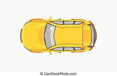 kilátás, autó, háromajtós kiskocsi, tető