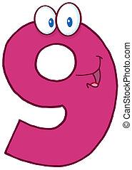 kilenc, szám, boldog