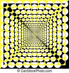 kilyukaszt, bizottság, fekete, elvág, összetett, tervező, sárga