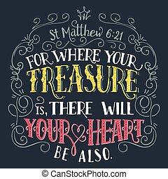 kincs, árajánlatot tesz, biblia, hol, -e