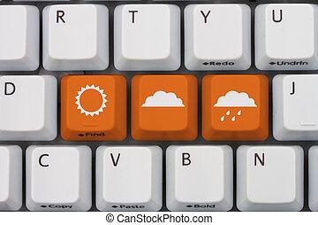 kinyerés, időjárás, -e, előre lát, online