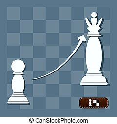 király, árnyék, vektor, sakkjáték, elzálogosít