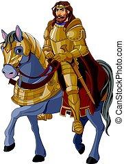 király, középkori, lóháton