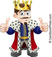 király, karikatúra