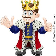 király, karikatúra, kabala