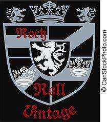 királyi, címertani, címer, pajzs, klasszikus