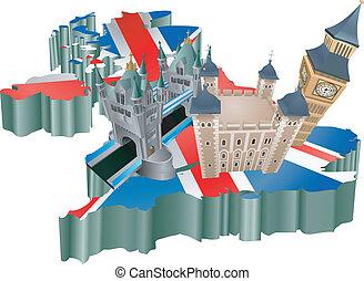 királyság, egyesült, idegenforgalom