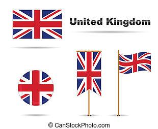 királyság, egyesült, zászlók