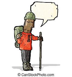 kiránduló, karikatúra