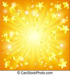 kirobbanó, csillaggal díszít, háttér