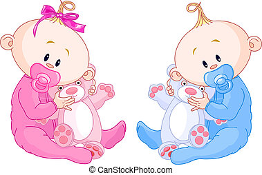 kisbabák, ikergyermek