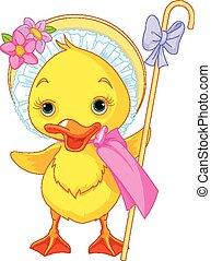 kiskacsa, húsvét, pásztorlány, rétegfelhő