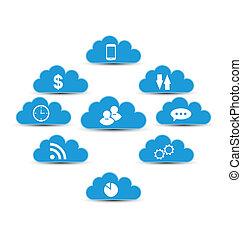 kiszámít, felhő, alapismeretek, infographic, tervezés, technológia