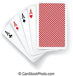 kitűnőség, kártya, piszkavas, játék, játék
