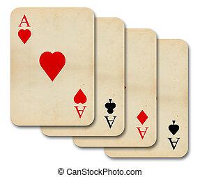 kitűnőség, szüret, öreg, kártya, elszigetelt