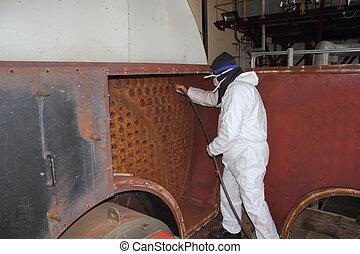 kitakarít, ipari, gőz, melegvíztároló