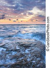 kitevés, félhomály, tenger, hosszú, hintáztatni