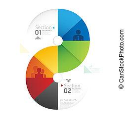 kivonat alakzat, infographic, tervezés, mód, alaprajz, /, sablon, infographics, karika, minimális, website, lenni, használt, horizontális, kapcsoló, számozott, grafikus, megvonalaz, vektor, konzerv, szalagcímek, vagy