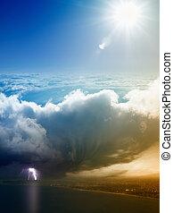 klíma, fogalom, fogalom, előre lát, időjárás, cserél