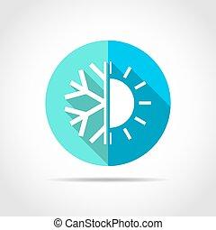 klíma, vektor, icon., illustration.