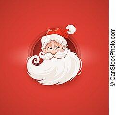 klaus, betű, arc, szent, mosolygós, karácsony