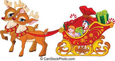 klaus, sleigh, szent