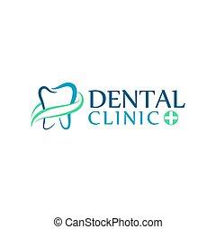 klinika, fogászati törődik, fogászat, jel, fog, ikonok, elvont, kids.